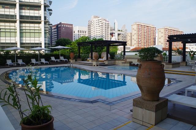 インターコンチネンタルホテルシンガポールのプール